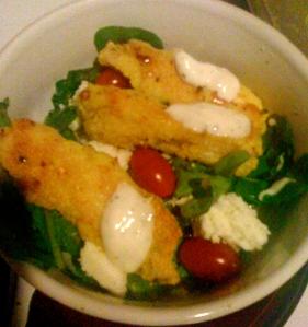 fish stick salad