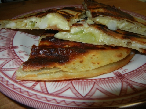 Brie and Grape Quesadilla