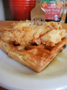 Maia's Fav Chicken and Waffles!